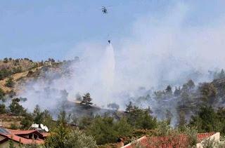Ολονύχτια μάχη με τις φλόγες στην Κασσάνδρα Χαλκιδικής