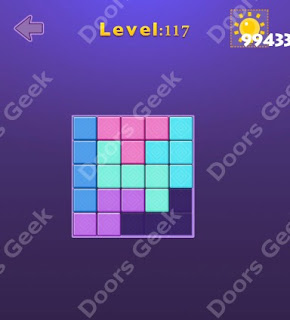 Cheats, Solutions, Walkthrough for Move Blocks Easy Level 117