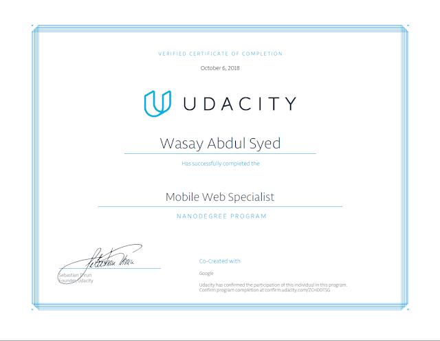 Udacity - Mobile Web Specialist Nanodegree Program
