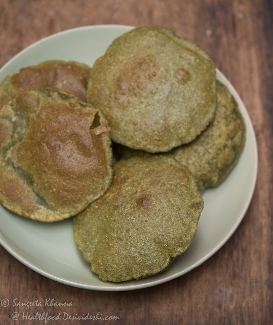 poori with moringa powder