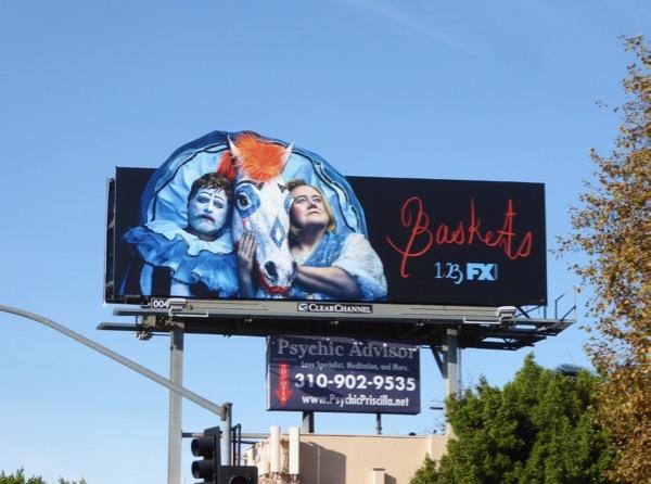 Baskets season 3 extension cutout billboard