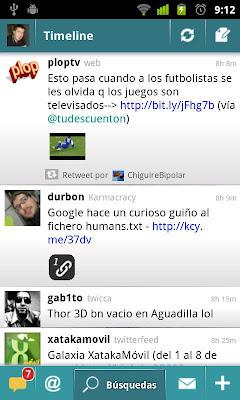 Cliente de Twitter para Android