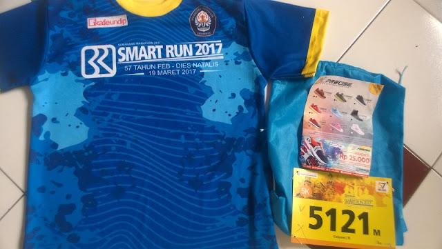 Isi racepack BRI Smart run 2017