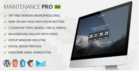 Download Maintenance Pro WP Plugin v3.2 Free