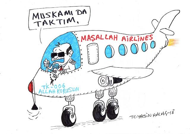 maşallah airlines karikatür