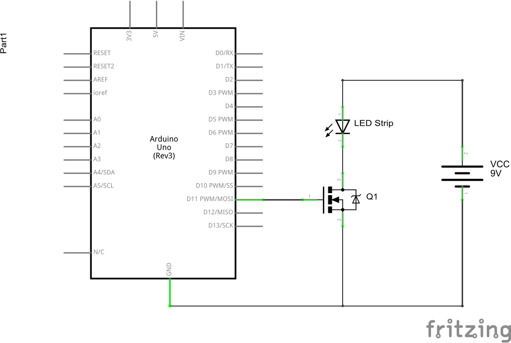 Driving a LED strip with Arduino - Yet Another Arduino Blog