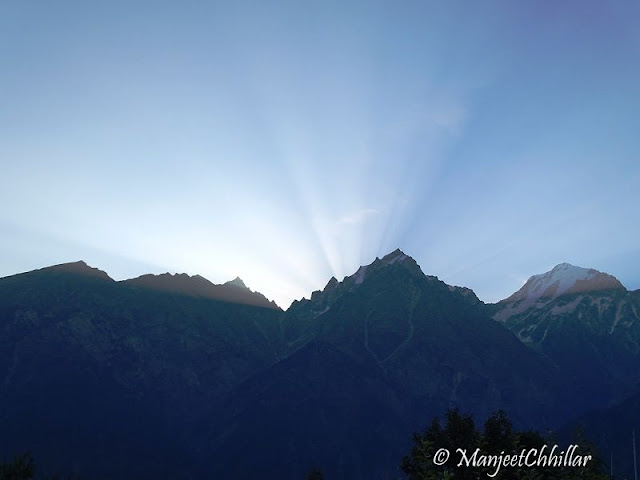 Morning in Kalpa, Himachal