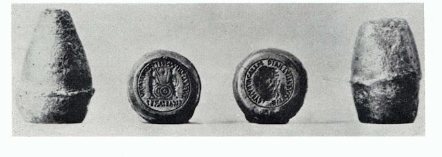 Cuños monetarios romanos de la época de Augusto
