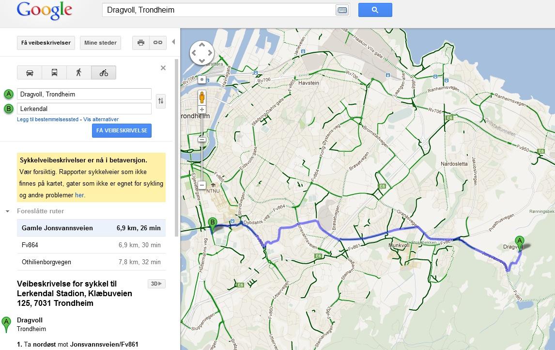 sykkelveier i oslo kart Norway Press Blog: På to hjul med Google – nå finner du  sykkelveier i oslo kart