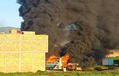 Ouled berhil press - أولاد برحيل بريس 24 المحكمة تواجه متهما بشريط يصور تخريب إقامة الأمن المحترقة بإمزورن