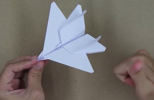 Hướng dẫn gấp máy bay F15 bằng giấy p3
