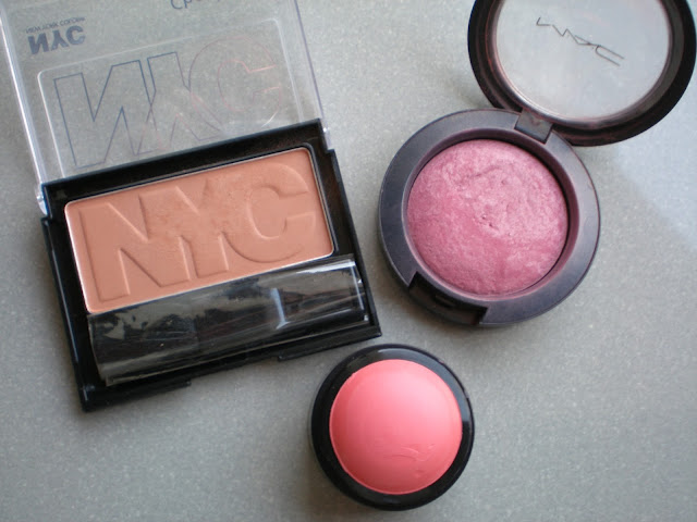 NYC Cheek Glow Powder Blush, MAC Mineralize Blush, Erre Due Bubble Blush