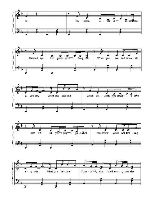 Partitura Piano Avril Lavigne