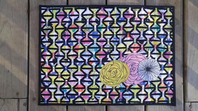 Fabric weaving mini quilt