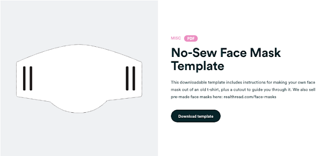 Download Template: Clever one piece no sew mask!