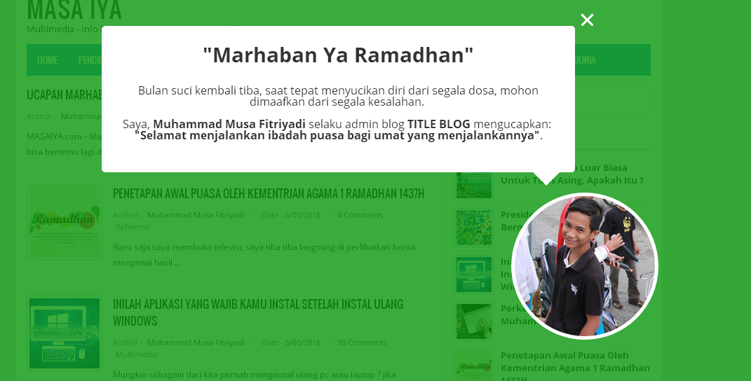 Ucapan Marhaban Ya Ramadhan Dengan CSS Animation Ala KompiAjaib
