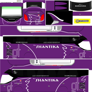 Livery Bussid XHD New Shantika