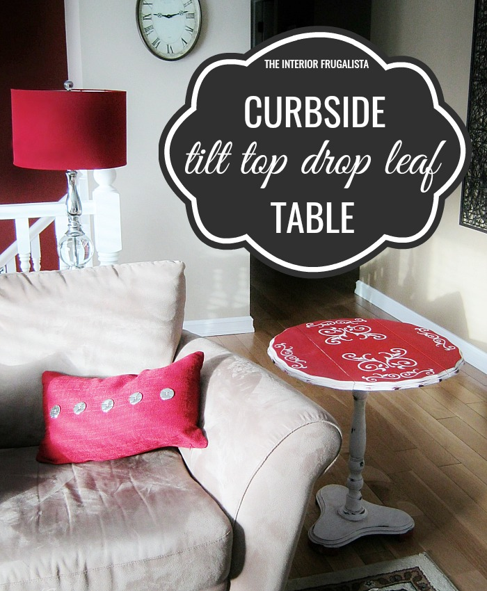Curbside Tilt Top Table Makeover