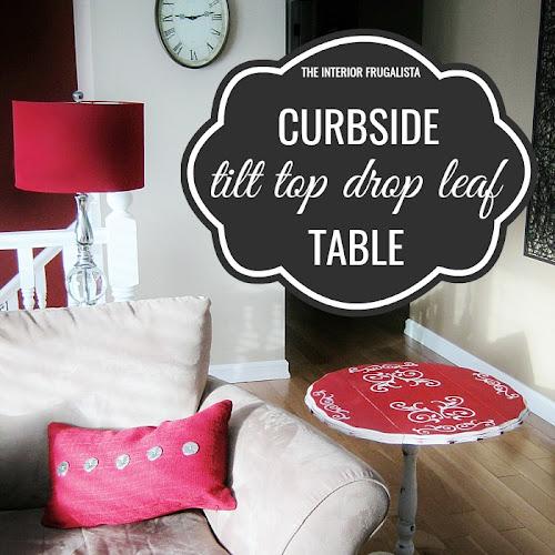 Curbside Tilt Top Drop Leaf Table Makeover