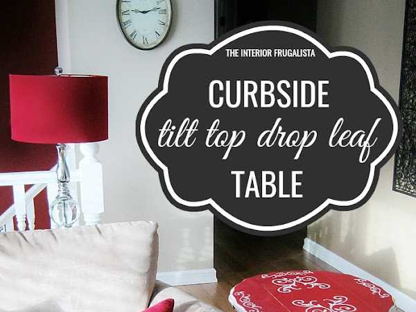 Curbside Tilt Top Drop Leaf Table Makeover