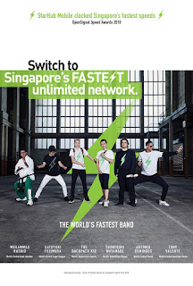 Source: StarHub. Poster advertising the World's Fastest Band.