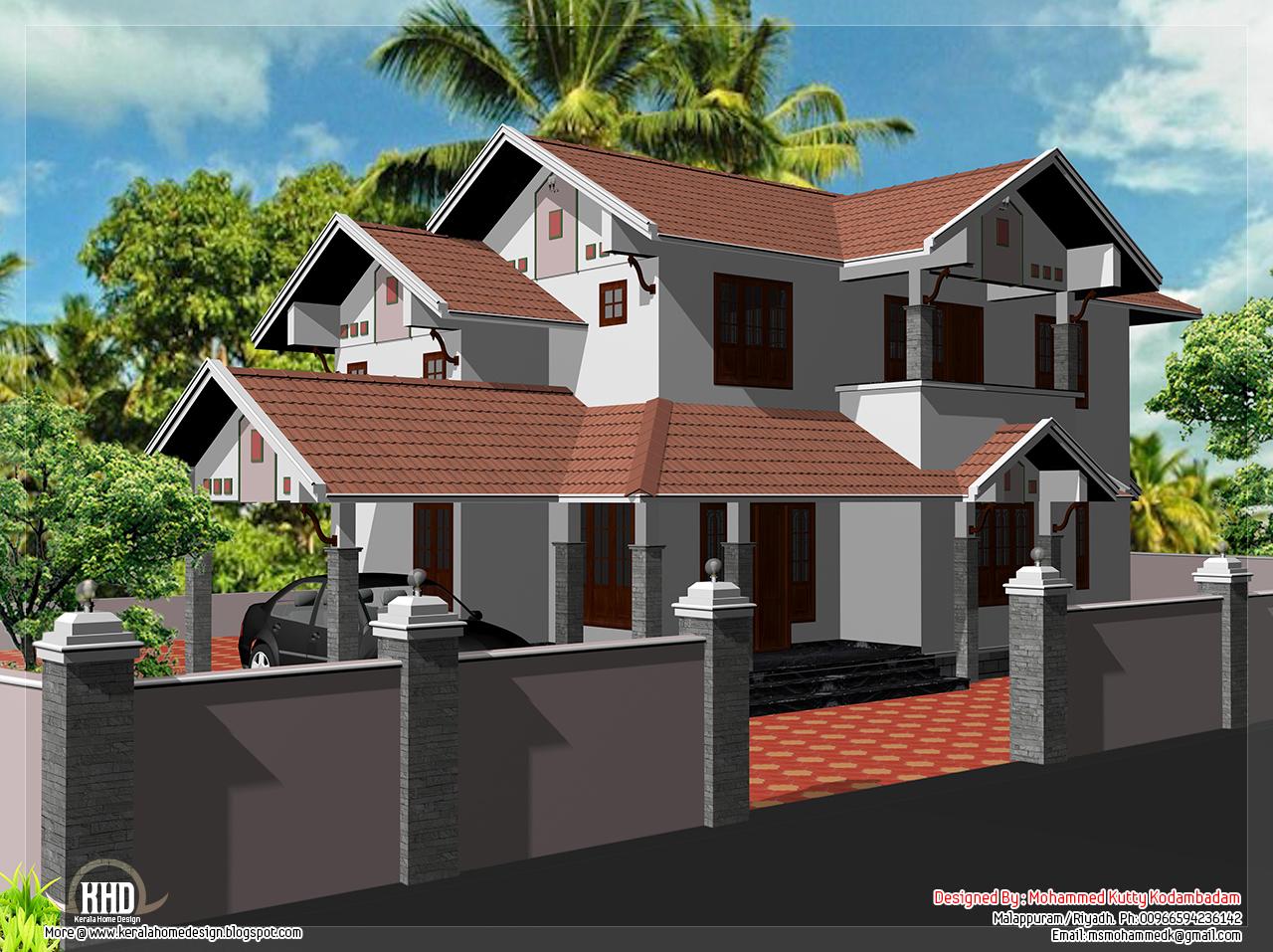 2000 Sq Feet House Elevation Design Kerala Home
