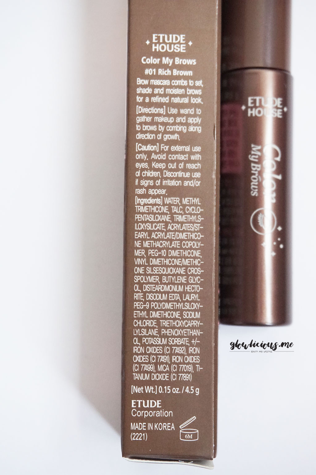 Kemasan Etude House Color My Brow in Rich Brown