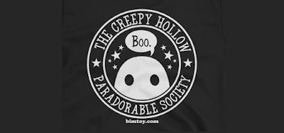 """Creepy Hollow Paradorable Society"" Tiny Ghost T-Shirt by Reis O'Brien & Bimtoy"