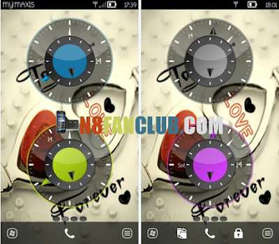 Android Gingerbread Style Live Analog Clock Widgets for Nokia Symbian Belle