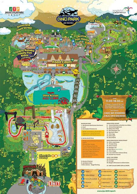 peta rute wahana jatim park 3