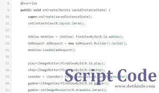 script code aplikasi android
