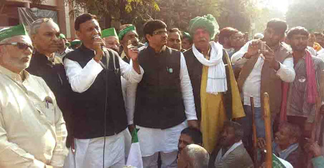 Lucknow police frightens Bhikiyu's assembly gherao, anti-farmer power in the country: Ambavata