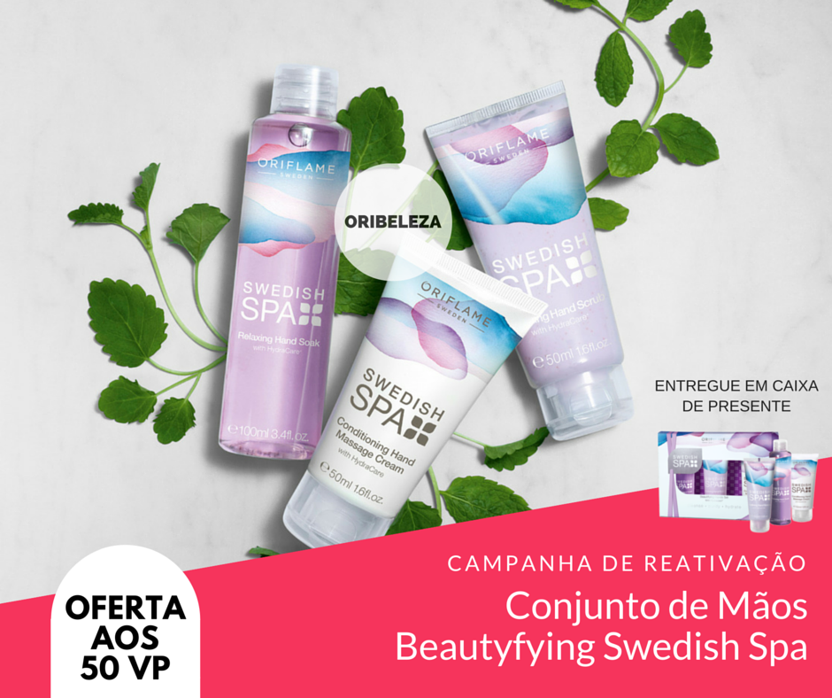 Conjunto de Mãos Beautyfying Swedish Spa da Oriflame