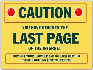 Funny internet last page sign