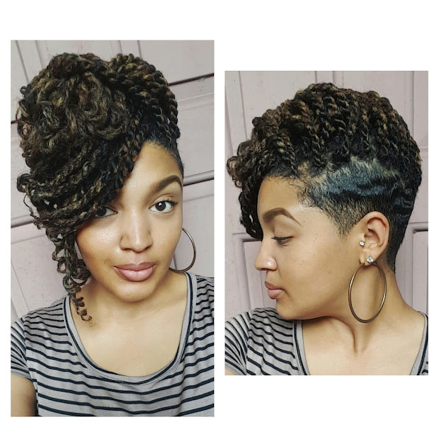 kinky twists tapered cut