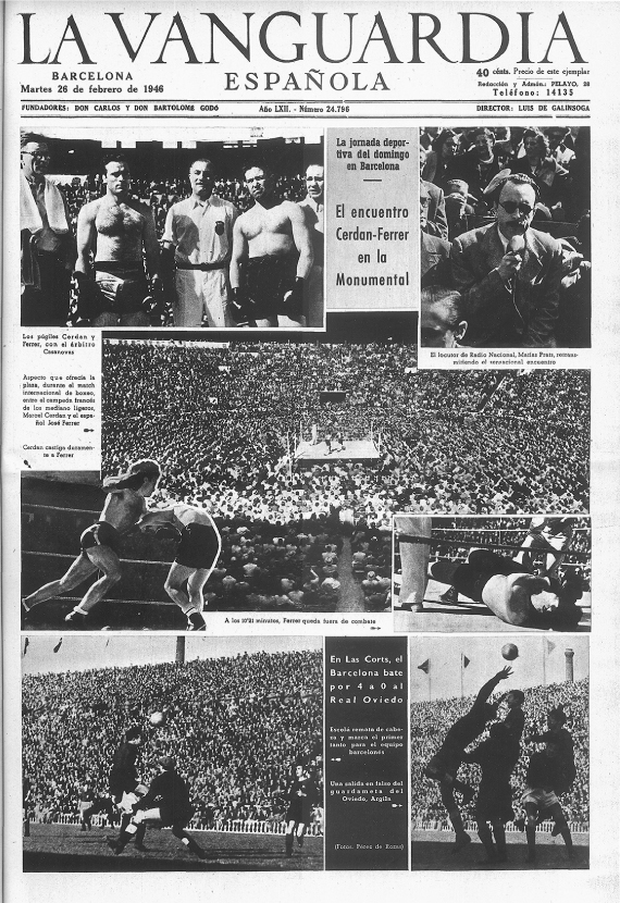 Combat Ferrer-Cerdán, La Monumental, boxeo