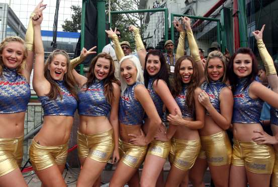 hot cheerleaders girls in ipl matches