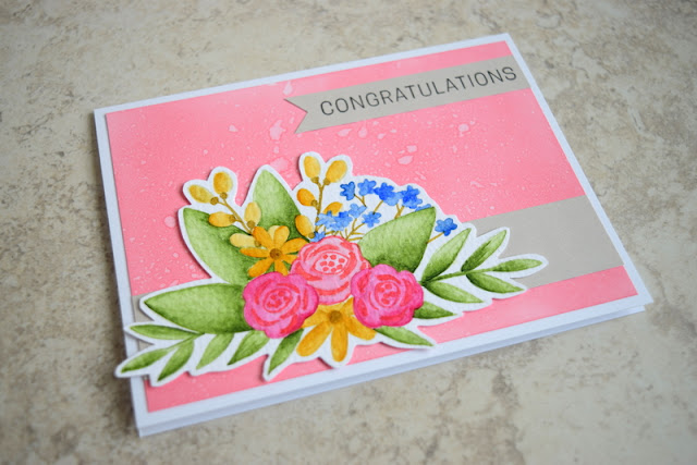 Congratulations Card by Jess Crafts using Simon Says Stamp June 2017 Card Kit Blissful