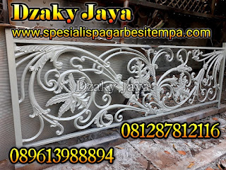 Model Railing Tempa Mewah Dzaky Jaya, Railing Besi Tempa Klasik