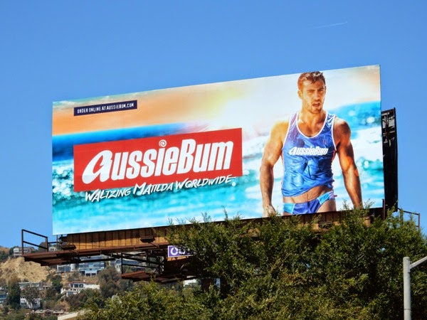 Sexy AussieBum swimwear billboard