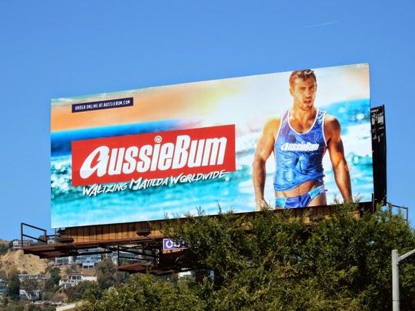 Sexy AussieBum swimwear billboard