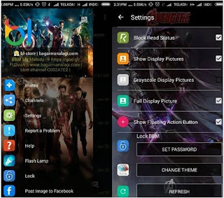 BBM Whatsapp Mod The Avengers Hawkeye