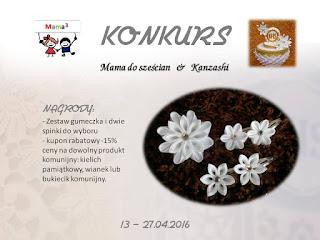 http://mamadoszescianu.blogspot.com/2016/04/konkurs-konkurs-z-kanzashi.html