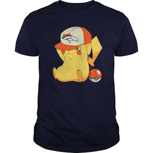 Denver Broncos Pikachu Pokemon Shirt