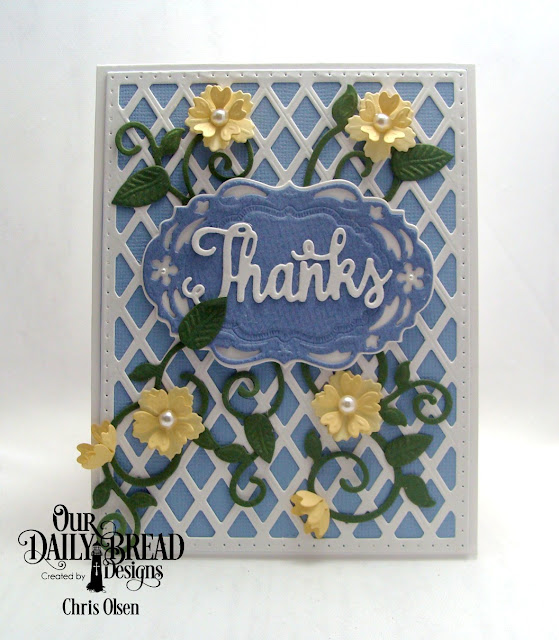 Chris Olsen, Our Daily Bread Designs, Bitty Blossoms, Fancy Foliage, Lattice Background, Vintage Borders, Vintage Labels