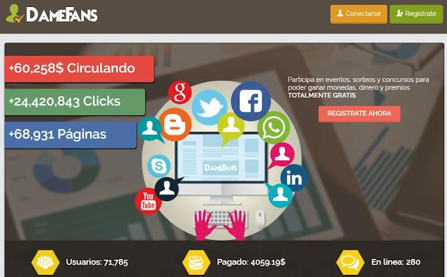 DameFans: haz crecer tus redes sociales gratis