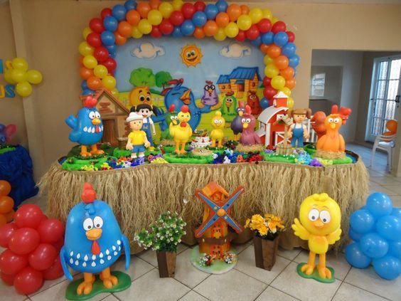 Decoración de cumpleaños con animales de la granja y de la ...