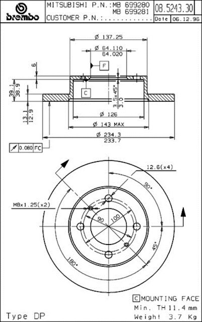 DISTRIBUTOR SPAREPART MOBIL MOTOR: Brake Disc Proton