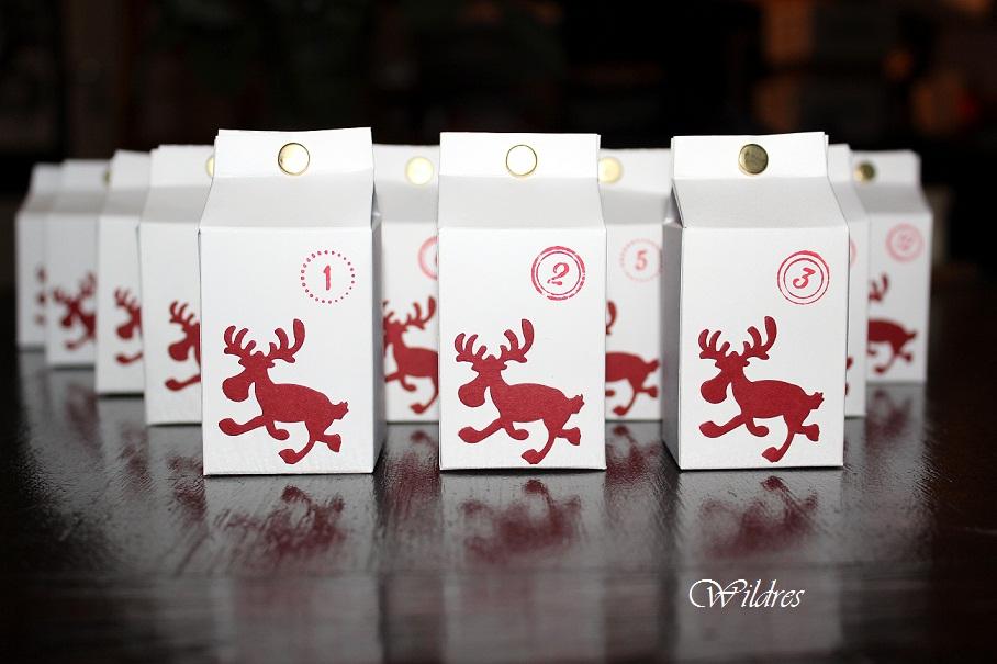 Weihnachtskalender Elch.Wildres Adventskalender Zum Füllen Elche Milchtüten
