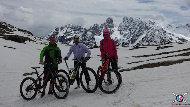 Mit dem Mountainbike im Schnee mtb
